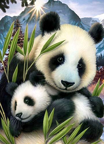 Oofficee 5D DIY Diamant Malerei Panda Tiere Bild VonStrass WanddekorationDiamant StickereiMuster Home Decor30 × 40 cm , 11 × 15In Strass-panda