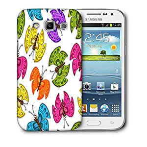 Snoogg Colorful Butterflies Printed Protective Phone Back Case Cover For Samsung Galaxy Samsung Galaxy Win I8550 / S IIIIII