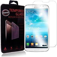Ycloud Protector de Pantalla para Samsung Galaxy Mega (6.3 Pulgada) GT-i9205 Cristal Vidrio Templado Premium [9H Dureza][Alta Definicion]