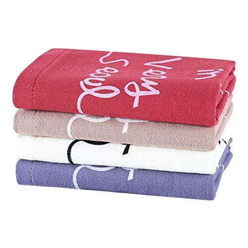 Lurrose Toallas Cara algodón 4pcs Toallas Limpieza