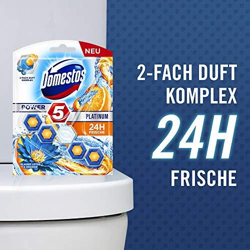 Domestos WC-Stein, für eine frische Toilette Blauer Lotus und Orange mit Glanz-Formel, 55 g