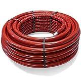 BiBa-Schrauben | 26 x 3,0 mm - 10 mm 25 m | Aluminium Mehrschichtverbundrohr isoliert rot | (1 Stück) | DVGW Zulassung | Alu | Pressfittings | Schraubfittings | Kunststoffverbundrohr | Pipetec