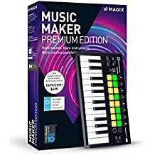 MAGIX Music Maker – 2018 Performer Edition – Musik machen mit Audiosoftware und USB-Pad-Controller
