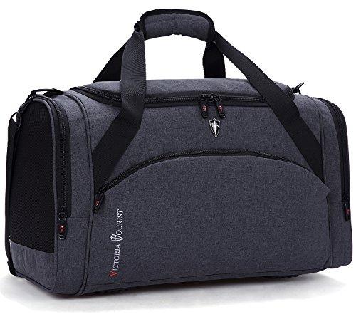 Victoriatourist Reisetasche Herren Damen 40L Canvas Handgepäck Sporttasche Erweiterbare Großräumige Handtasche Schultertasche