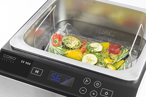 CASO SV900 Sous Vide Garer, perfektes Vakuum garen im Wasserbad für bis zu 5 Portionen, Niedertemperaturgarer 30°C bis 90°C in 0,1°C-Schritten - 2