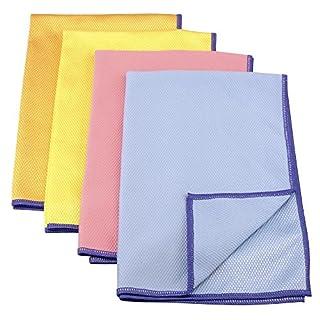 purclean Microfasertuch BEKKO mit Schuppenstruktur, extra saugstark, 30% Polyamide, 60x40cm, in blau, orange, gelb oder pink