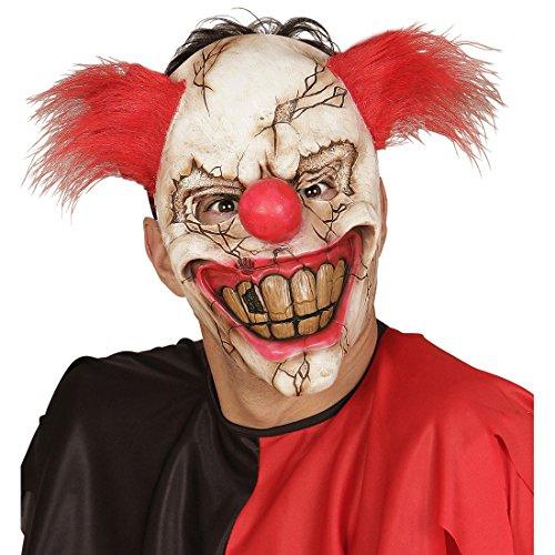 (Amakando Psycho Clown Maske Horror Clownsmaske Horrormaske ES Halloween Clownmaske Gruselmaske Horrorclown Gruselige Halloweenmaske)