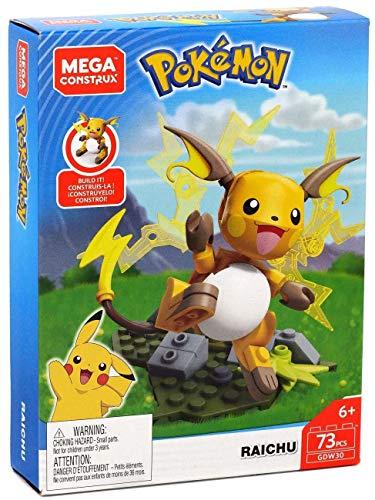 Mega Construx Pokémon Figura Raichu, Juguetes de Construcción Niños +6 Años (Mattel GDW30)