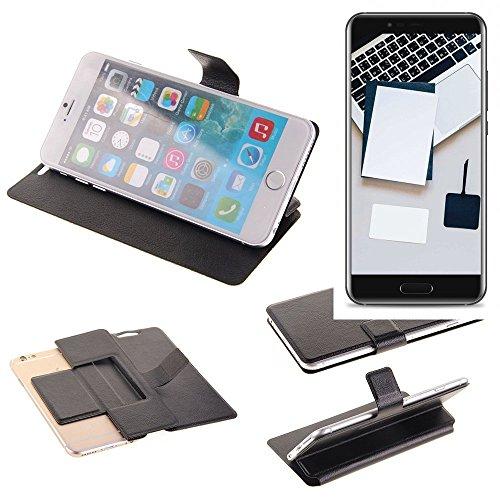 K-S-Trade Schutz Hülle für Blackview P6000 Schutzhülle Flip Cover Handy Wallet Case Slim Handyhülle bookstyle schwarz