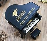 WooMax Caja de música Juego de Tronos, Caja Musical de Madera de Piano Negra, cumpleaños o Navidad