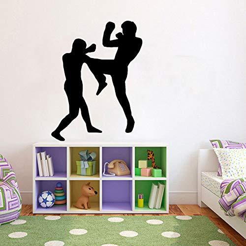 Zymkito Decoración de Boxeo de Moda Etiqueta de la Pared PVC Sala de Estar El Dormitorio 63x48cm