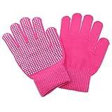 Baoblade Reithandschuhe Handschuhe Anti Rutsch Handschuhe für Fahren - Rose Rot, Freie Größe