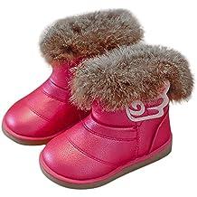 Botas Bebé Unisex Invierno de Niñas Niños Más Terciopelo de PU de Alas Zapatos de Bebé