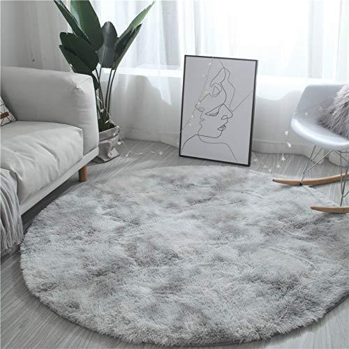 KFEKDT Nordic Runde Teppich Tie-Dye Wohnzimmer Couchtisch Decke Schlafzimmer Nachttisch Computer Stuhl Yoga Teppich A5 Durchmesser 60 cm