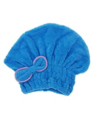 Anself Utile chapeau de sèche cheveux microfibre sèche rapidement cheveux serviette enroulée de bonnet de bain