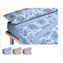 Algodonea - Juego de sábanas invierno MICROLINA, calidad de lujo. (135, azul)