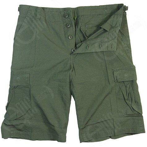 Mens Designer Fashion Army Military Cargo Walk Shorts Pants Prewash Olive Green (XL)