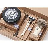 Captain Fawcett's Shaving Brush, Razor and Shaving Soap Gift Set - Made in England