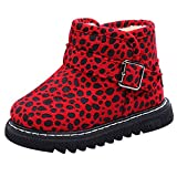 Beikoard Kinderschuhe, Kinder Leopard Plus warme Samt Stiefel Schnee Stiefel Booties Warme Flache Stiefel Schuhe