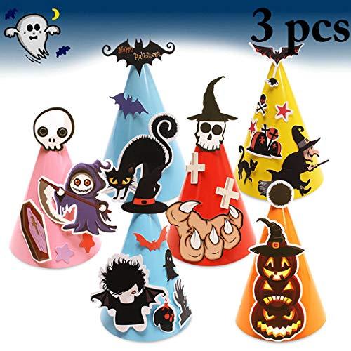 der Partyhut Papier Cartoon Hut DIY Halloween Hut Partei Kegel Hut ()