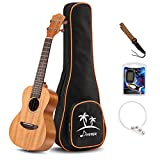 Donner DUT-1 Ukulele Tenore 26 pollici Mogano con DT-2 Accordatore a pinza