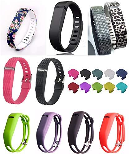 YooNeo Ersatz-Armband mit Verschluss für Fitbit Flex, ohne Tracker, 10 Stück (Flex-tracker-ersatz)