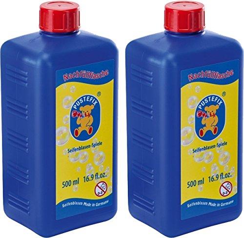 PUSTEFIX - Seifenblasen Nachfüllflasche (2 x 500ml Nachfüllflasche)