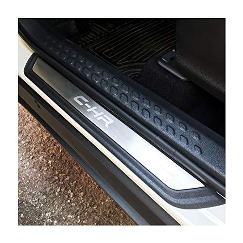 LFOTPP Battitacco in acciaio inox inossidabile per porta C-HR , 4 pezzi Argento