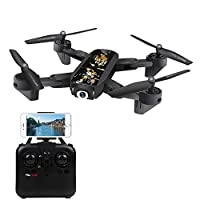 SYMTOP DM107S Folding Wi-Fi FPV RC Helicopter Quadcopter Drone 2.0MP Wide Angle Camera - Black