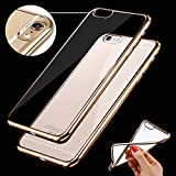 Chrome TPU Cover for Motorola G4 Plus (GOLD Colour) - Soft Silicon for MOTO G Plus 4th Gen with Golden Sides Amazon
