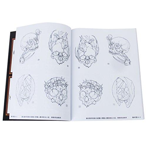 52pages-calavera-craneo-libro-referencia-de-tatuaje-boceto-foto-hoja-instruccion