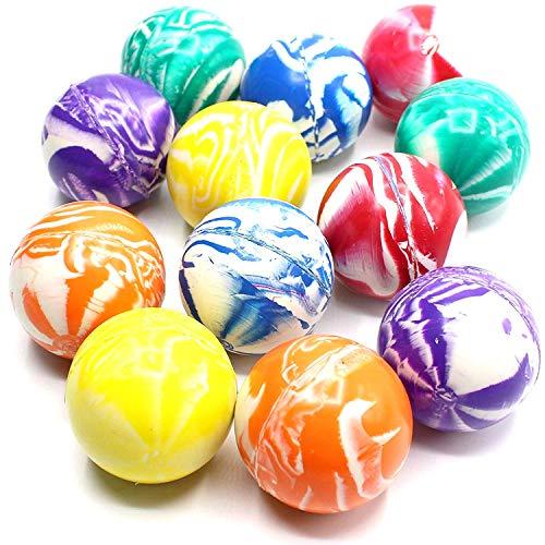 Praknu 50 Große Flummis Set 42 mm Springball Hüpf Ball Flummi Ball Bunte GUMMIBÄLLE Mitgebsel Kindergeburtstag-Party Spielzeug