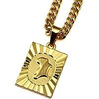 nyuk da uomo Africa Mappa Collana Catene collane catena gioielli ciondolo pendente in oro 18K in lega di zinco - 14k Oro Jade Stud
