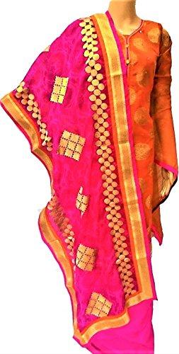 Riaa Collection Women's Designer Exclusive Chanderi Silk Salwar Kameez Semi-stitch Dress Material...