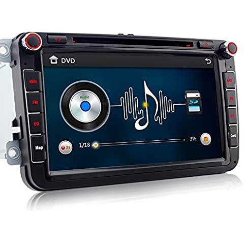 A de Sure 8pulgadas 2din 3G DAB + Auto Radio Navi DVD GPS FM Radio RDS TMC vmcd Bluetooth para Volkswagen Passat Golf 56Touran Tiguan Transporter Multivan T5Polo Jetta Caddy Skoda Seat Altea
