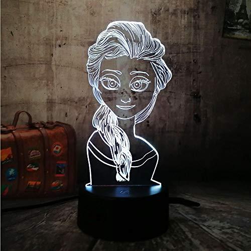 LED Nachtlicht-3D Vision-Sieben Farben-Fernbedienung-Little Night Light Nettes Mädchen Geschenk Little Night Light Nachttischlampe Touch Change Schlafzimmer Neujahrsgeschenk