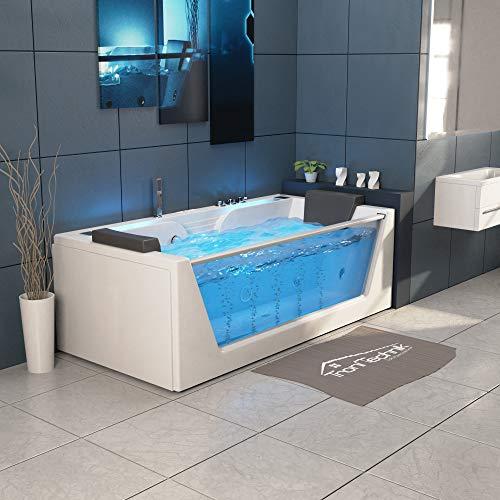 TroniTechnik Whirlpool Badewanne KOS 2 179cm x 85cm mit Heizung Hydromassage Bachlauf und Farblichtherapie - 4