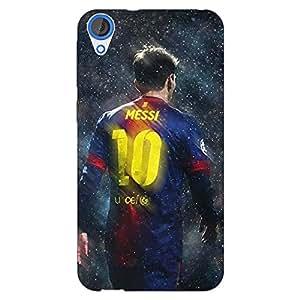 Jugaaduu Barcelona Messi Back Cover Case For HTC Desire 820