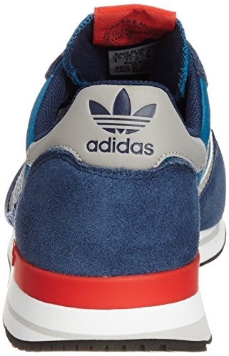 adidas Originals Zx 500 Og, Baskets mode mixte adulte Bleu (Blau (Hero Blue F13/Mgh Solid Grey/Poppy)