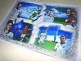 4 DEUTSCHE NATIONALSPIELER auf einem klasse Kunstdruck direkt vom Künstler 30cm x 42cm