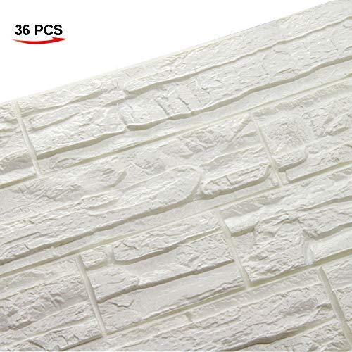 WANWEITONG 3D Papel Pintado ladrillo, PE de Espuma de 3D Wallpaper, DIY...