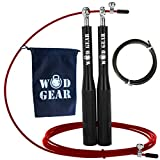 Crossfit Skipping Rope/Fitness Jump Ropes - For WOD/Double Unders By WODGEAR. Adult