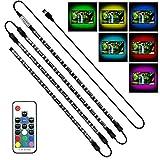Achivy USB LED Lighting Strip - 4 x 1.64ft/2M Multi-Color RGB 5050 DC5V LED TV Backlight Strip with RF Remote, Bias Lighting for HDTV, Flat Screen TV
