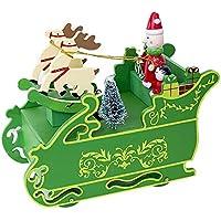Weihnachten Dekor Türhänger von Malloom, Kreatives Weihnachtshölzerne Spieluhr Geschenk Weihnachtsschlitten Tischplattendekoration preisvergleich bei billige-tabletten.eu