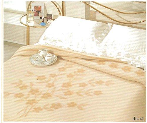 Coperta regale matrimoniale in 100% pura lana vergine peso invernale