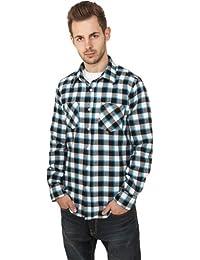 Urban Classics Men Tricolor Light Checked flannel shirt TB411