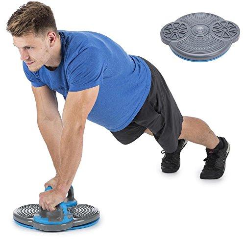 BAKAJI Pedana Fitness Multifunzione 3-in-1 per Allenamento Esercizi di Torsione Addominali, Vita e Fianchi, Pushup-Bar Pedana Rotante Twister Antiscivolo con Rilievo Massaggio Piedi