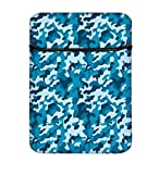 Snoogg blau Militär Muster, 35,6cm einfachen Zugang Gepolstertes Laptop Schutzhülle Flip Sleeve Tasche