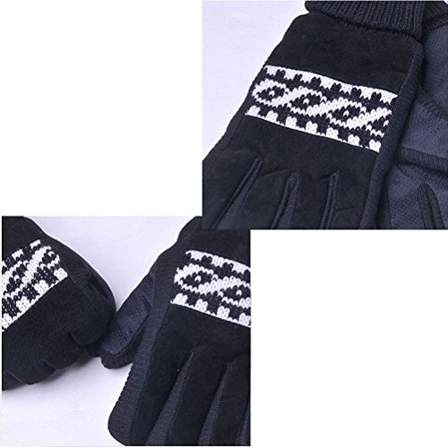 Zhhlaixing Unisex Winter warmth Full Finger Gloves De plein air Cycling Climbing Gloves Black