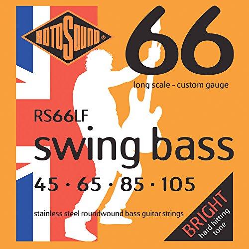 Rotosound Swing Bass RS66LF Saiten für elektrische Bass Gitarre (Rotosound E-gitarre Saiten)